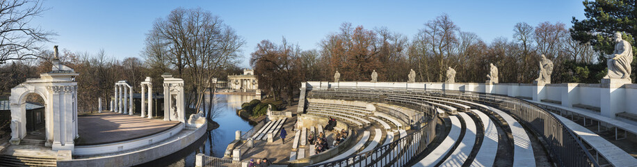 Panoramic view of Theater on the Isle in Warsaw