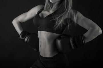 Fitness girl posing