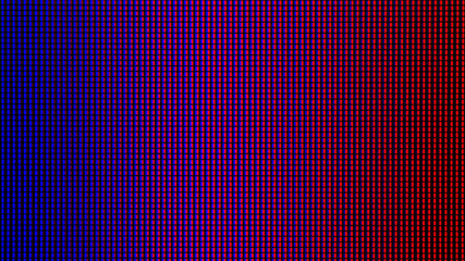 Closeup LED diode of LED TV, LED monitor screen display panel. Colorful LED screen background for design with copy space for text or image.