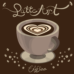 coffee latte art graphic  design objects