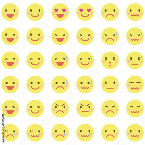 """黄色い顔の表情アイコン""""Fotolia..."""