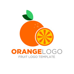 Orange logo Vector Design. Fruit logo template you can use for product, Restaurant and food logo