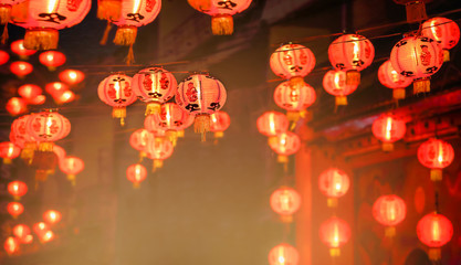 Chinese new year lanterns in chinatown