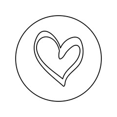 Heart scribble draw icon vector illustration graphic design