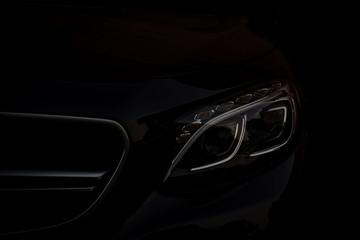 Business car silhouette.
