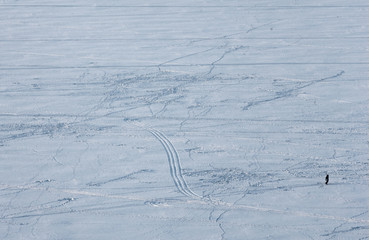 texture, background image. ice on the river