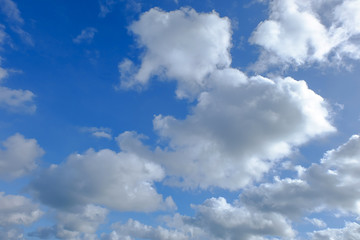 blue sky background with tiny clouds. natural photo background