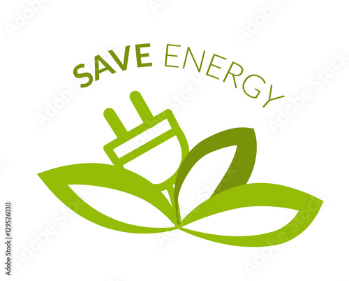 quotsave energy logoquot stock image and royaltyfree vector