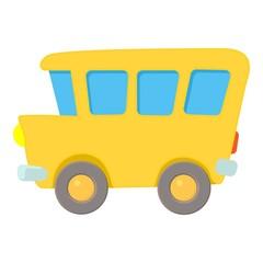 School bus icon. Cartoon illustration of school bus vector icon for web