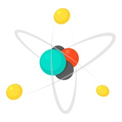 Molecule icon. Cartoon illustration of molecule vector icon for web