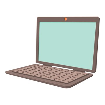 Laptop icon. Cartoon illustration of laptop vector icon for web