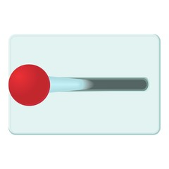 Lever of inclusion icon. Cartoon illustration of lever of inclusion vector icon for web