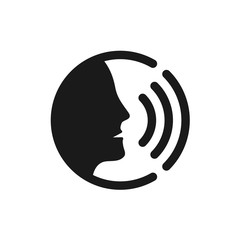 Voice command control with sound waves icon