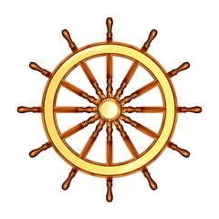 Steering wheel Marine. Steering wheel. Vector illustration