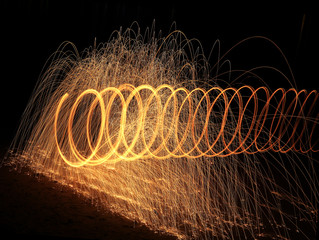 철솜 불꽃놀이