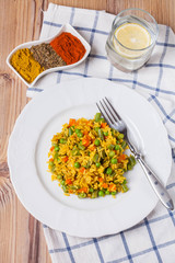 rice with vegetables and spices