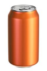 Orange aluminium drink can 3D illustration