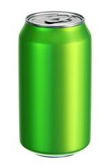 Green aluminium drink can 3D illustration