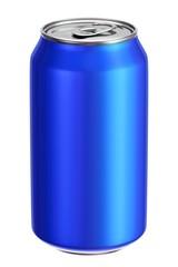 Blue aluminium drink can 3D illustration