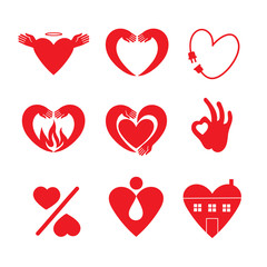 Heart Icon Set.