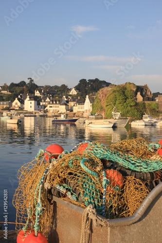 Filets de p che sur le port de loguivy de la mer bretagne c tes d 39 armor - Port de peche cote d armor ...