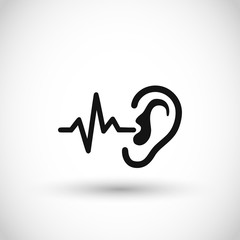 Fototapeta Ear wave sound icon vector