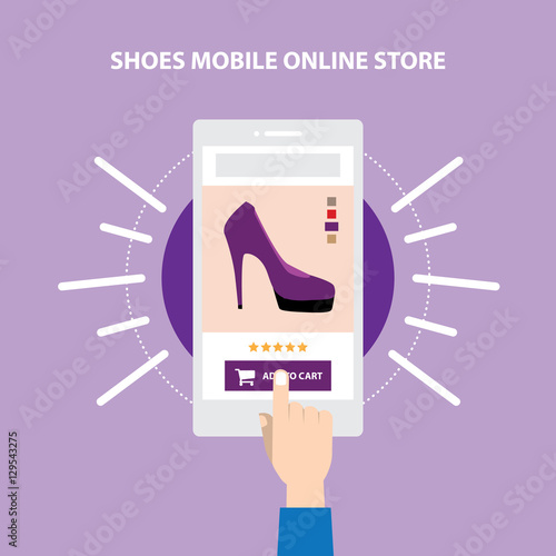 Shoes website store responsive mobile ecommerce online for Store mobili online