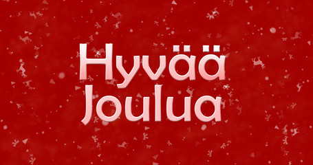 "Merry Christmas text in Finnish ""Hyvaa joulua"" on red background"