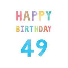 Happy 49th birthday anniversary card