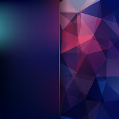 Abstract polygonal vector background. Colorful geometric vector illustration. Creative design template. Abstract vector background for use in design. Blue, pink, purple colors.