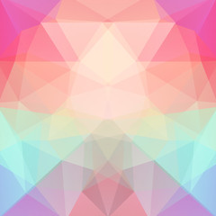 Abstract background consisting of pink, red, green, purple triangles. Geometric design for business presentations or web template banner flyer. Vector illustration