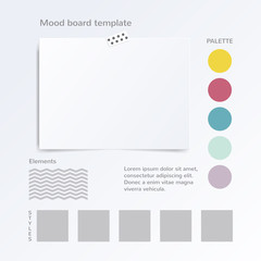Vector mock up template with color palette isolated on white background.