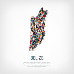 people map country Belize vector