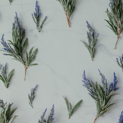 Creative mock up layout made of lavender branches with copy spac