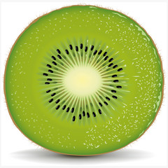 exotic kiwi with fresh water drops