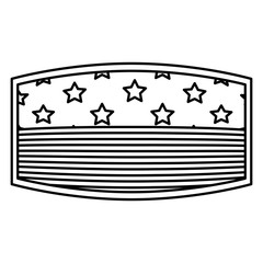 Usa flag inside frame icon. United nation us country and american states theme. Isolated design. Vector illustration