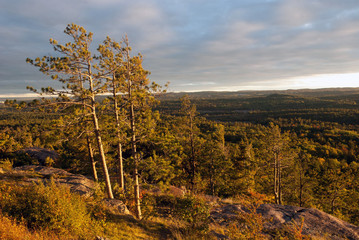 Sunset on Sugarloaf Mountain, Marquette County, Michigan, USA
