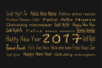 Frohes Neues Jahr in gold