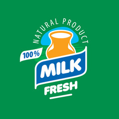 vector logo milk