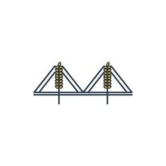 Beer Bridge Vector Logo Design Element