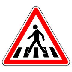 Panneau routier en France : Passage piéton