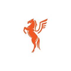 Pegasus Mustang Vector Logo Design Element