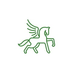 Pegasus Horse Vector Logo Design Element