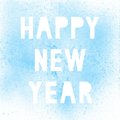 Happy new year with blue spray paint