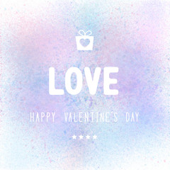 Happy Valentine s day lettering on pastel background