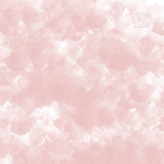 Light pink watercolor background.