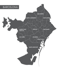 Vector map Barcelona district