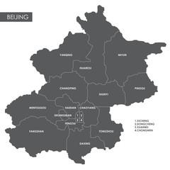 Vector map Beijing district