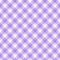 Checker pattern in hues of violet and white, seamless background