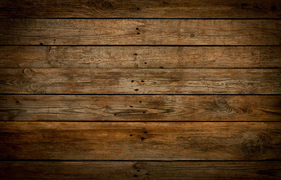 Rustic wooden background. Old natural planked wood.
